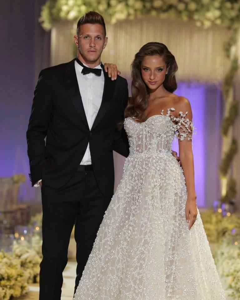 Wedding photo of Israeli supermodel Neta Alchimister