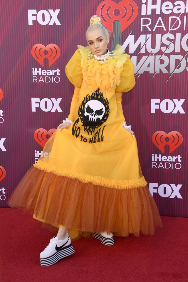 YouTube sensation Poppy wearing yellow Viktor&Rolf dress