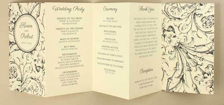 Accordion Fold | Boho Weddings