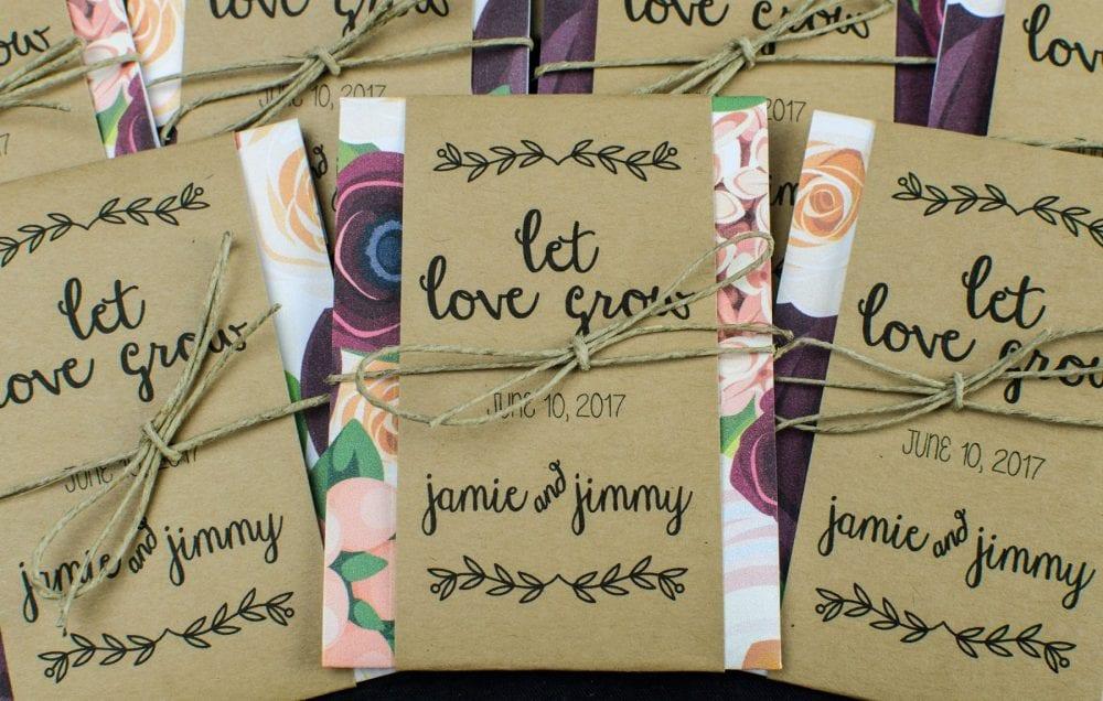 Garden Seeds wedding favor