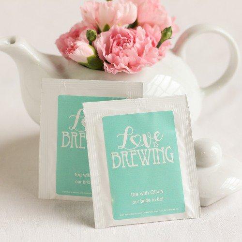 wedding favor tea bags