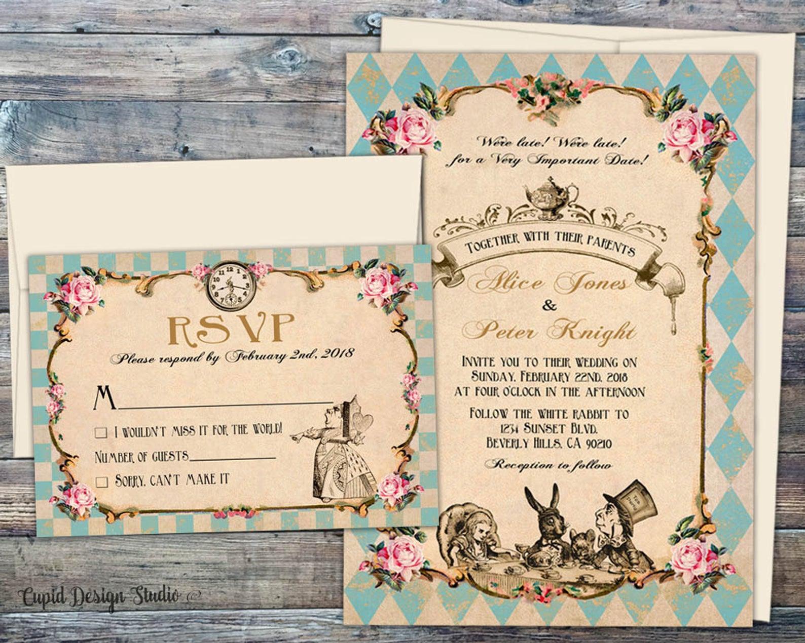 Etsy cupid designs wedding invitations