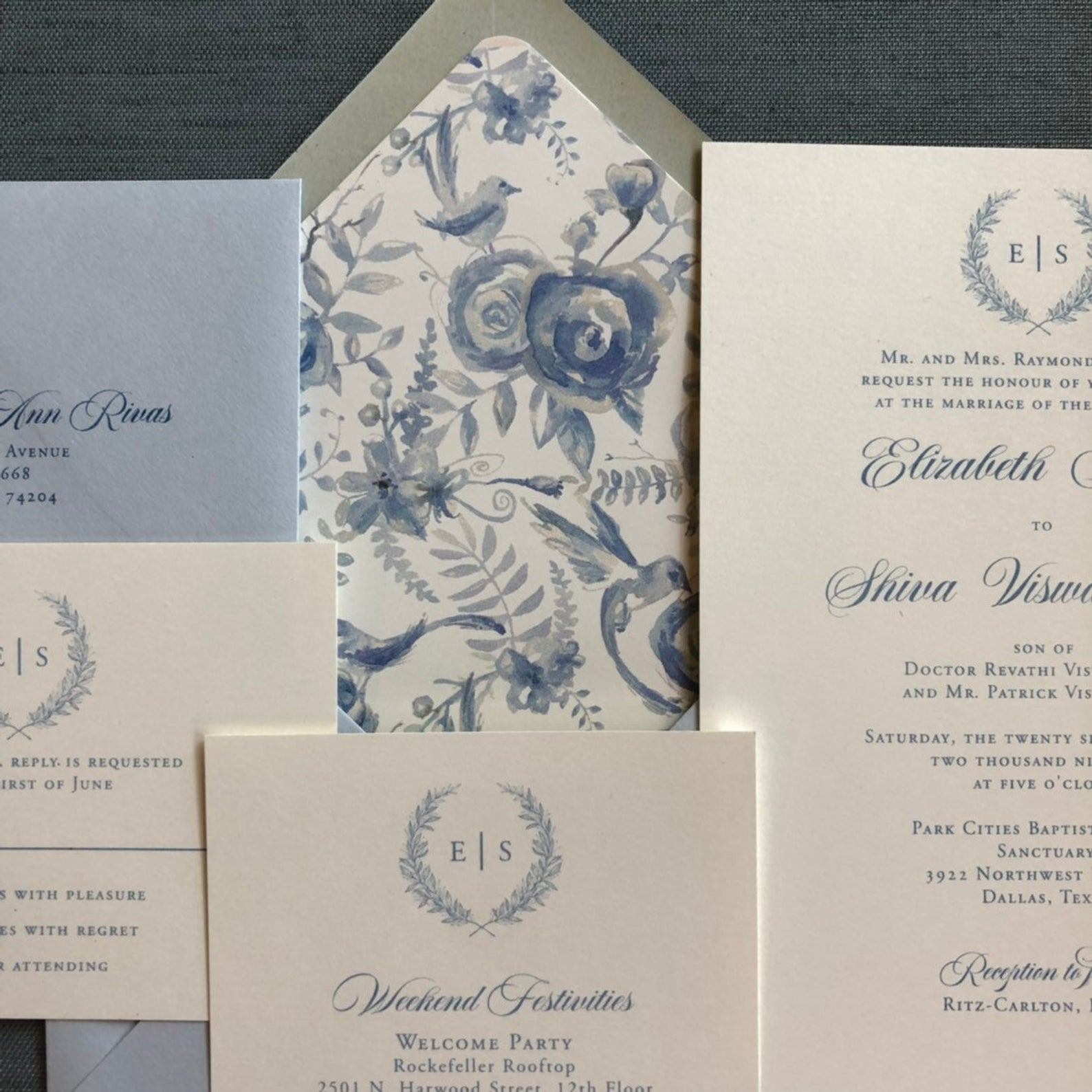cardinal and straw wedding invitations