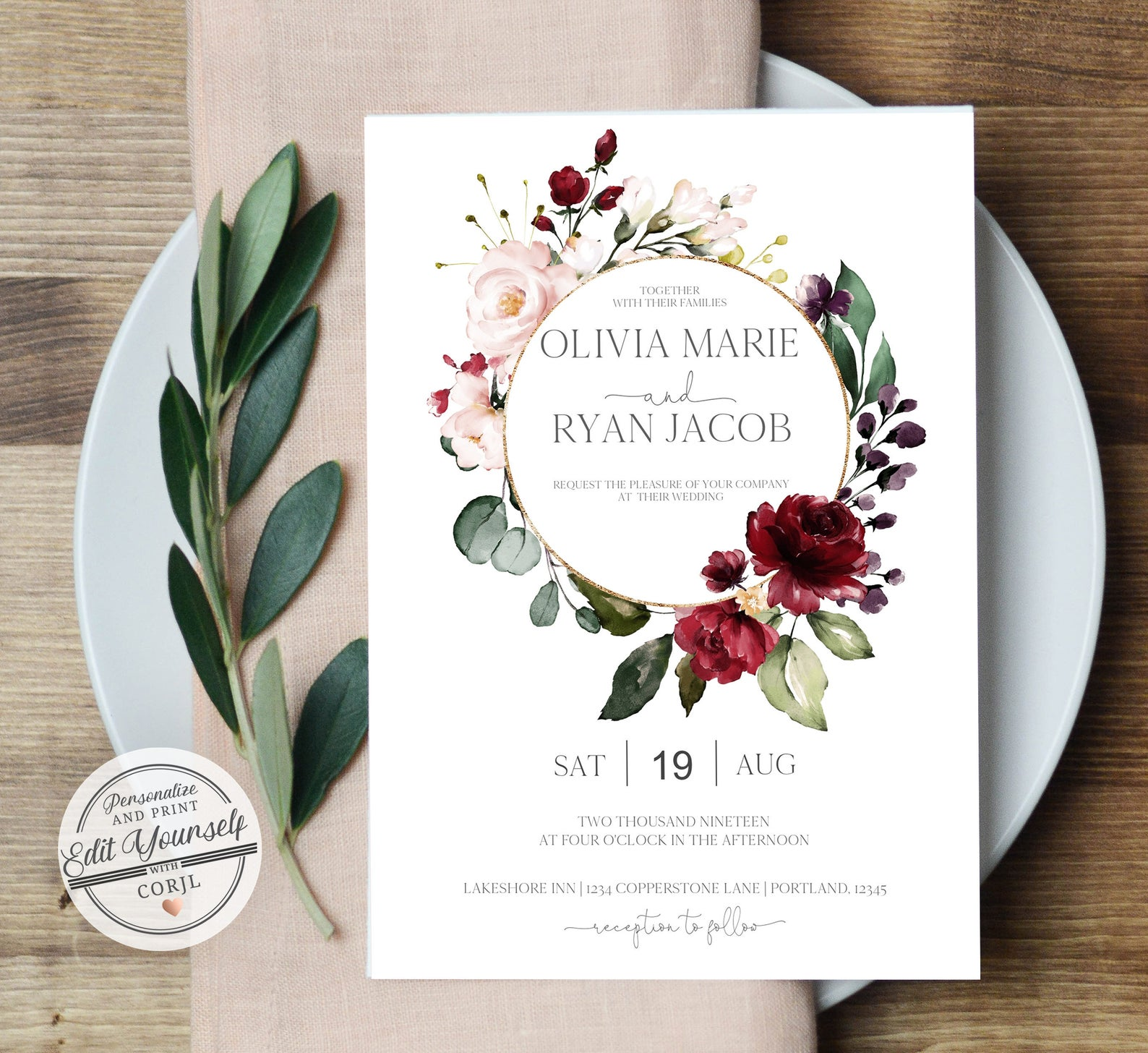 forever your prints wedding invitations