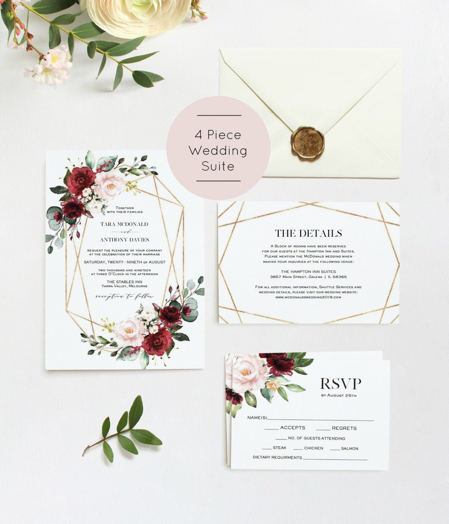 Willow Lane Paperie wedding invitations