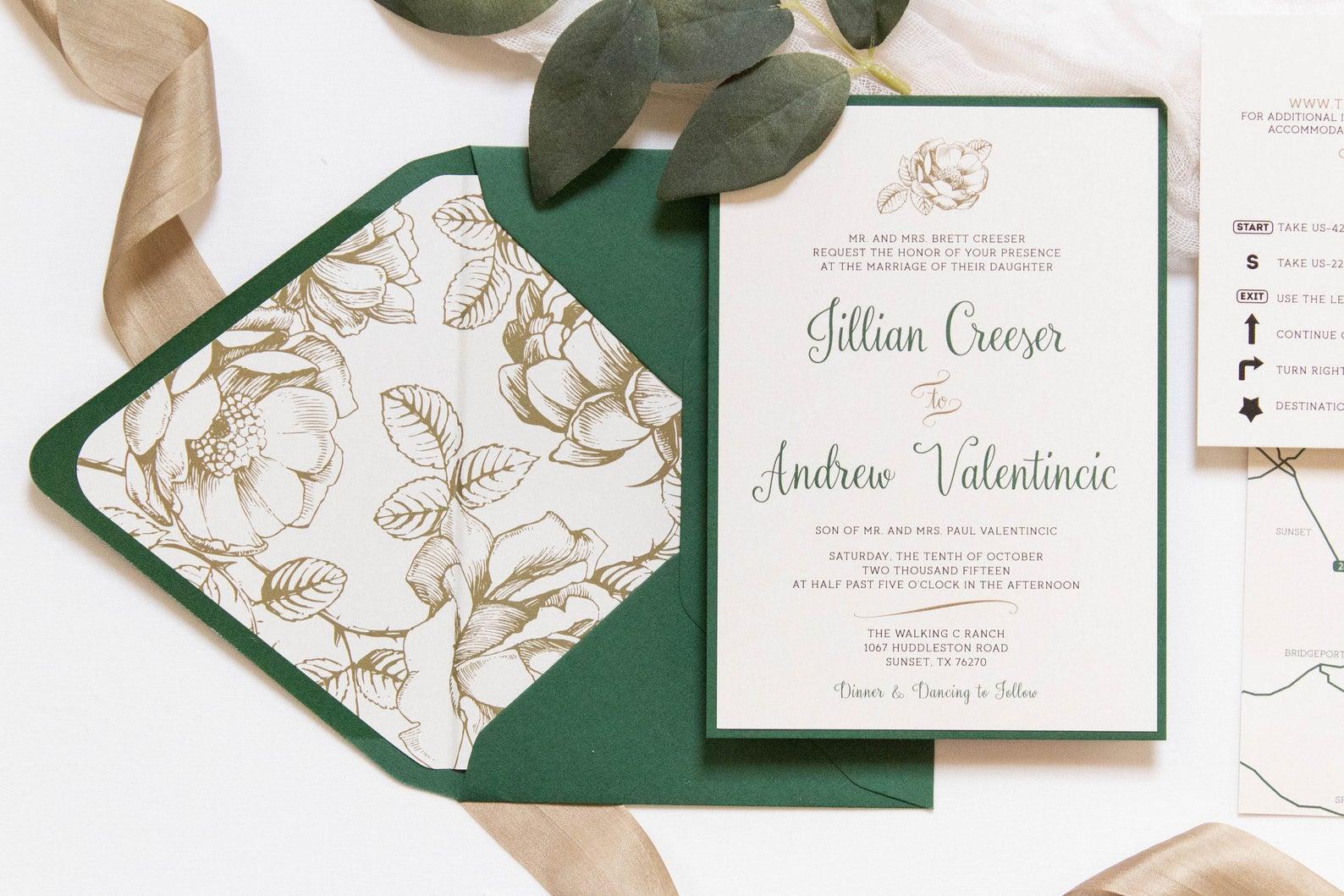 Brown Fox Creative wedding invitations