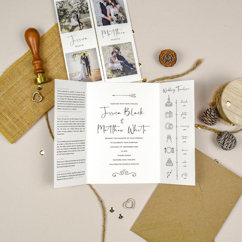 tavern creative wedding invitations