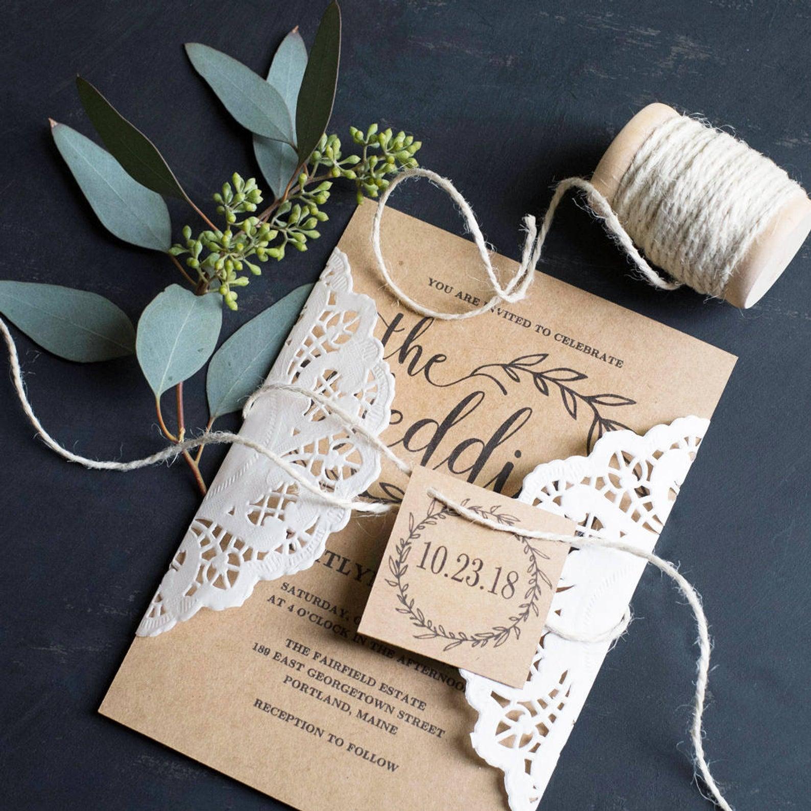 vine wedding wedding invitations