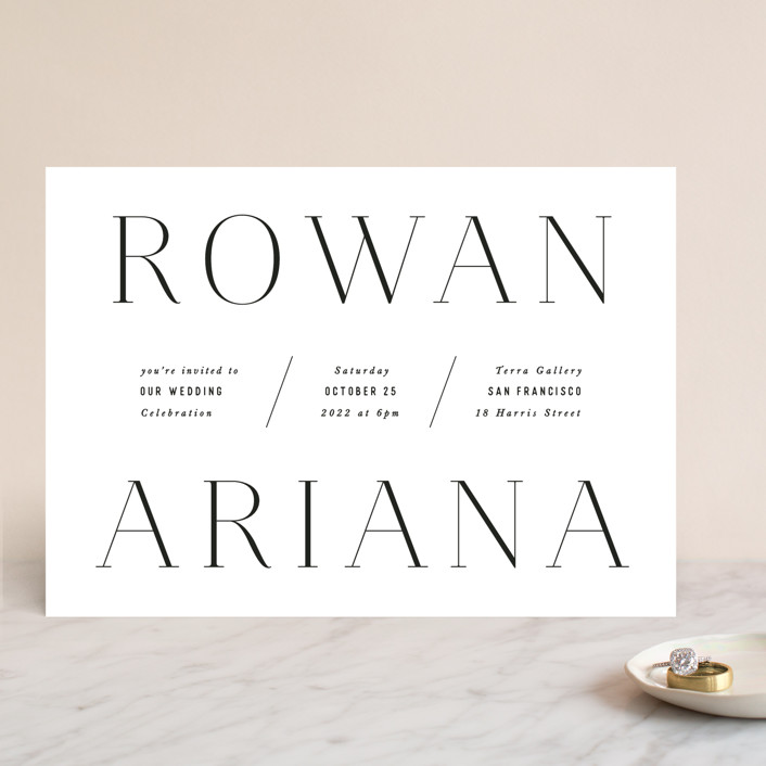 namely minted wedding invite