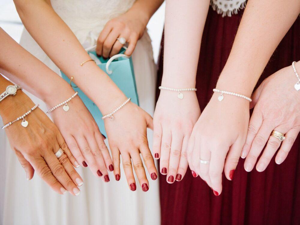 Matching bridesmaid nails