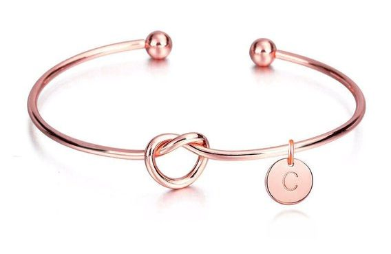 Rose Gold Personalized Initial Bracelet