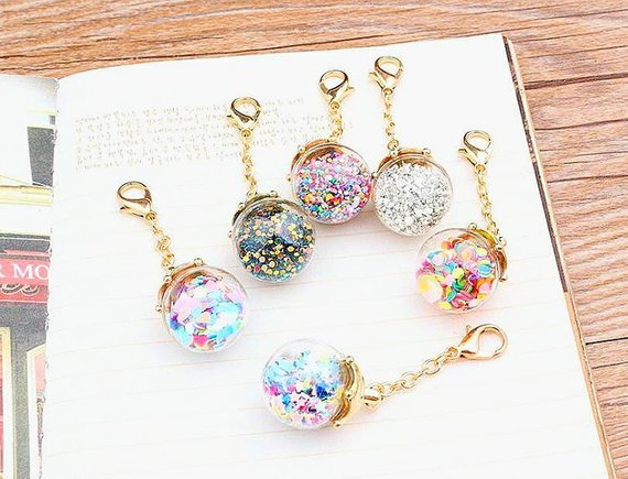 Glass Ball Confetti Charms