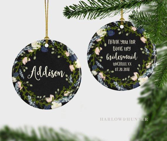 Thank You Bridesmaids Ornaments