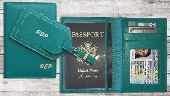 Personalized Passport Wallet Cove