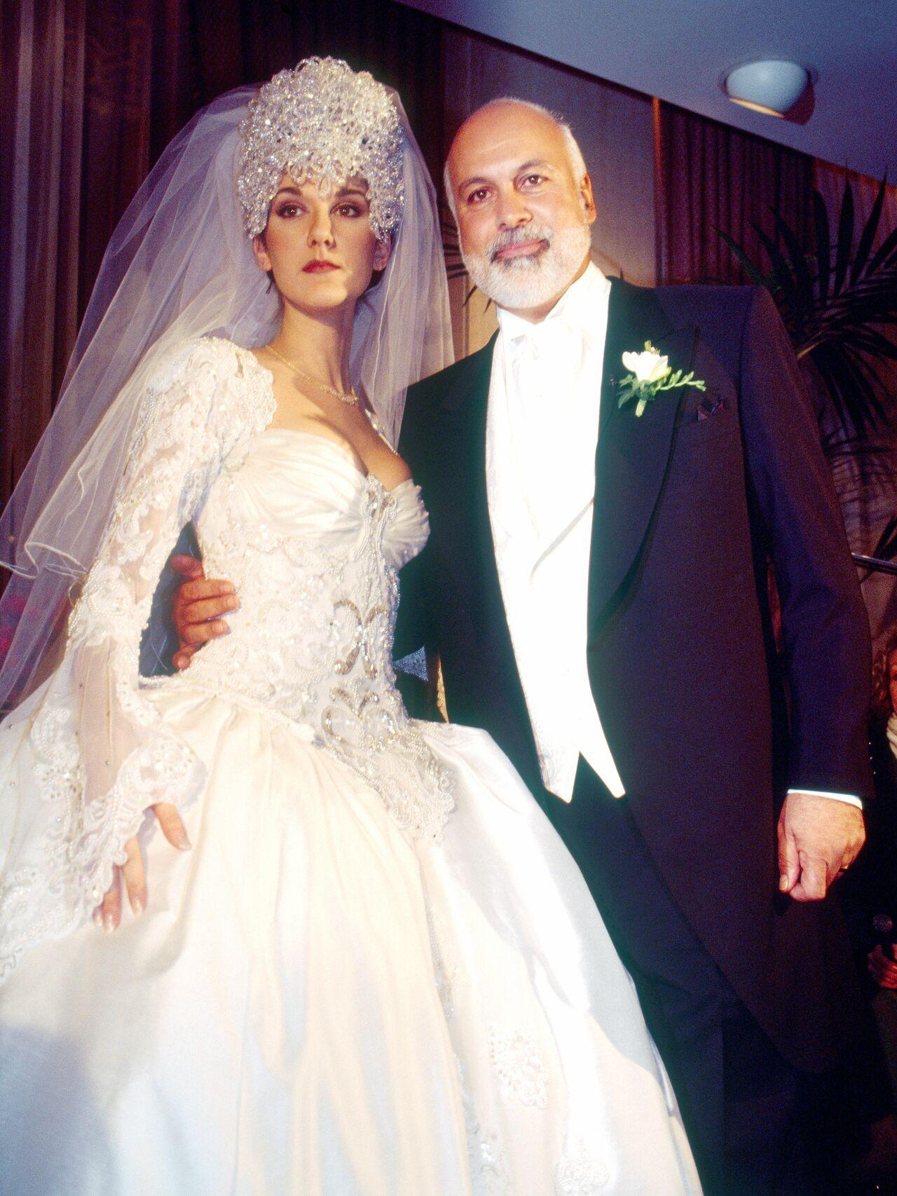 Celine Dion's wedding dress