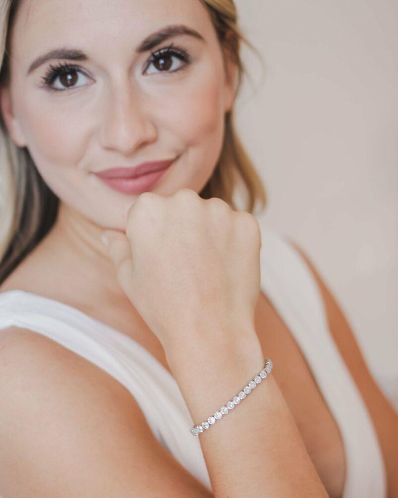 Bridal tennis bracelet