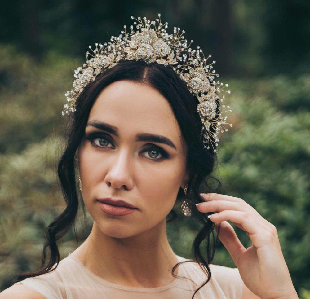 Crystal embellished tiara