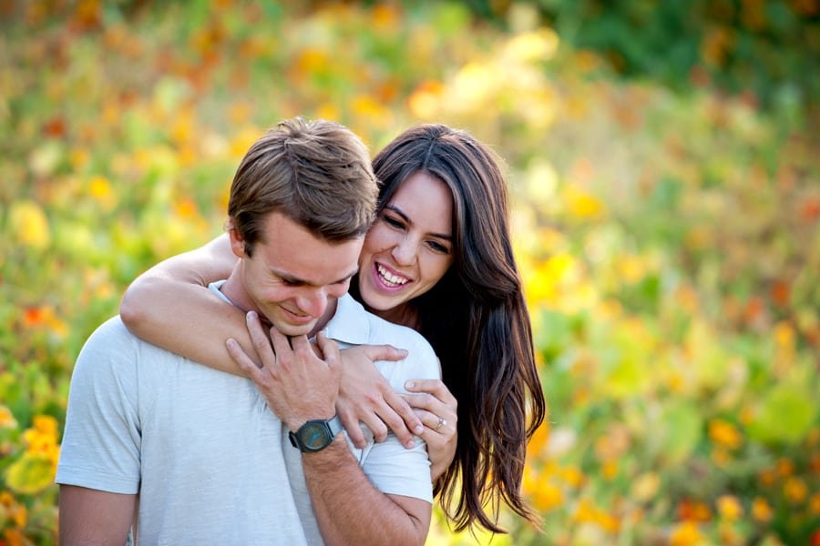 Laughing and Natural Engagement Pose Idea
