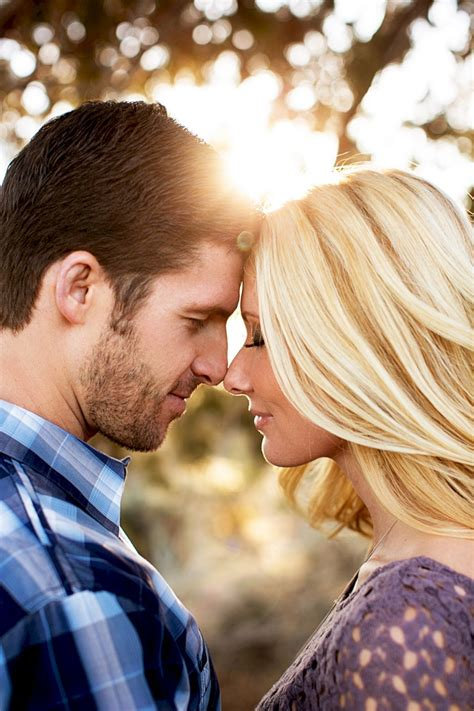 Alt text: nose to nose engagement photo idea