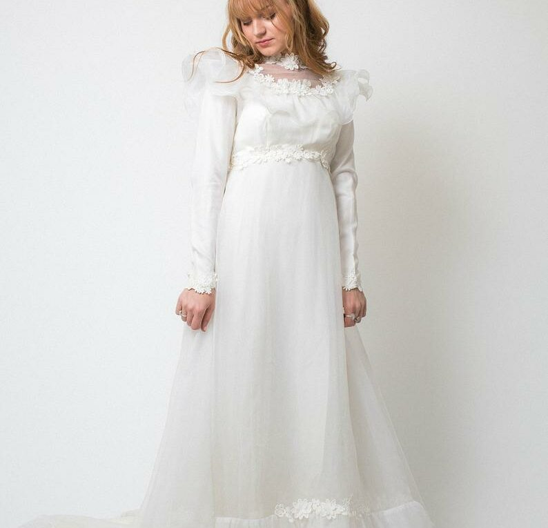 Vintage 1970's Wedding Dress from Rax Clothing