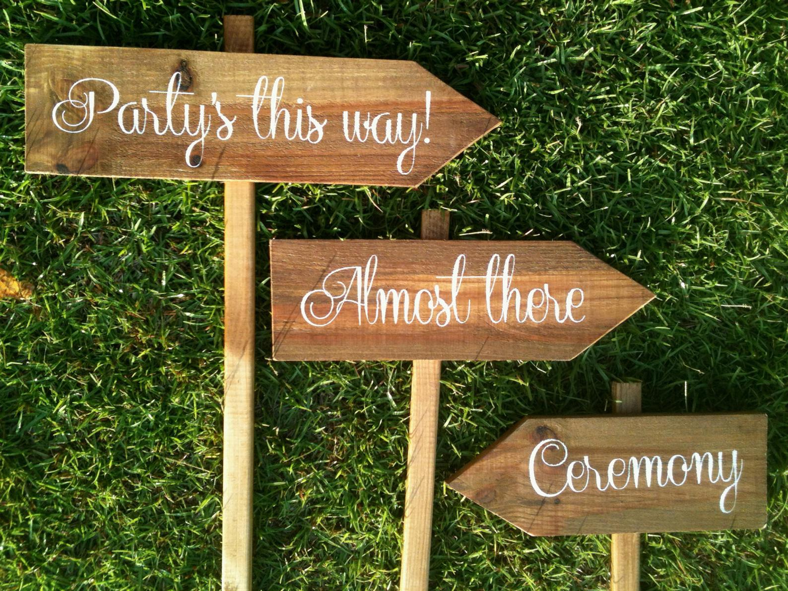 Personalized Rustic Wooden Directional Signs (Set of 5) from Sweet NC Collective