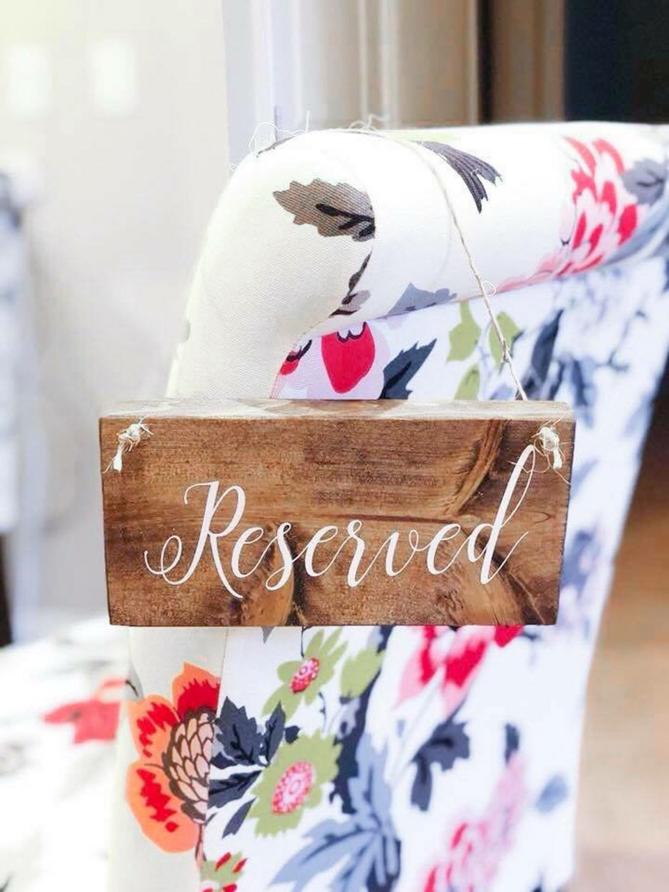 Wooden Reserved Hanging Wooden Sign from Manifest Market