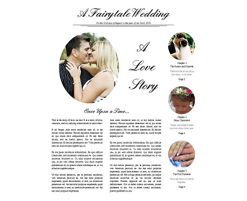 free newspaper wedding program template
