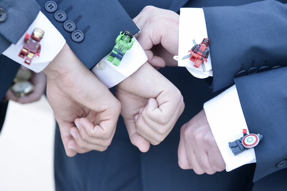 groomsmen quirky lego cufflinks