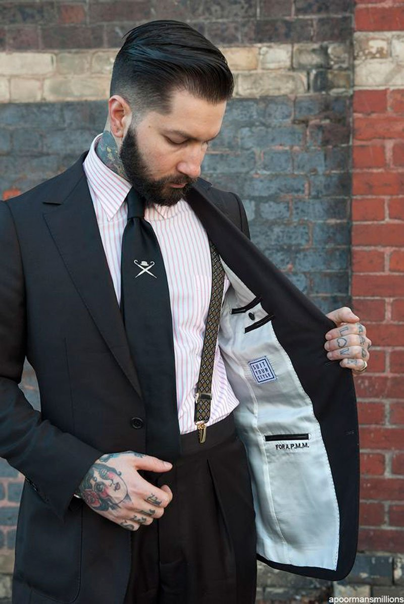 groom style accessories suspenders