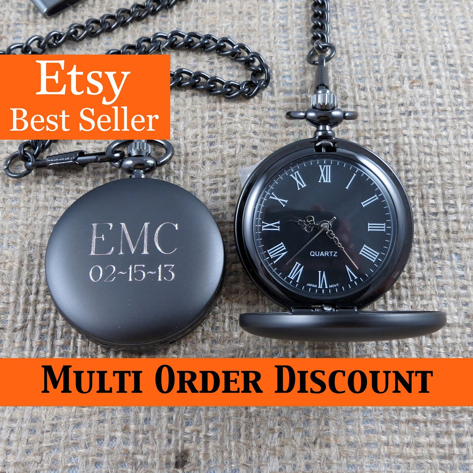 Personalized Pocket Watch – Monogrammed