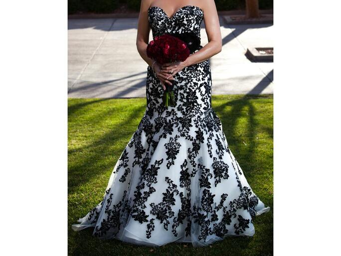 Black & white wedding dress