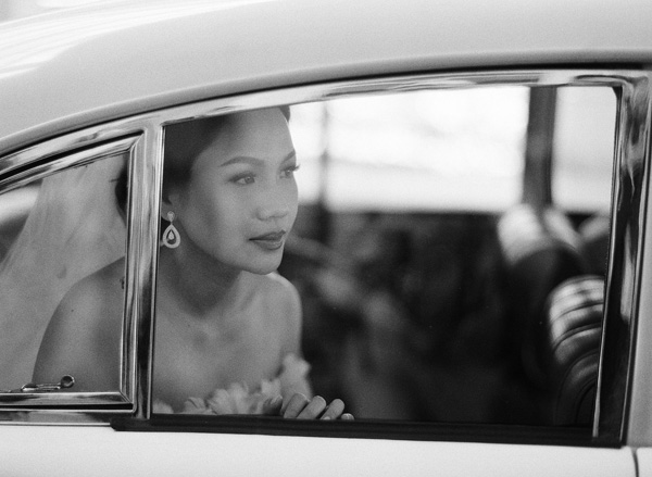 Pose For A Close-up Through The Window Of A Classic Car