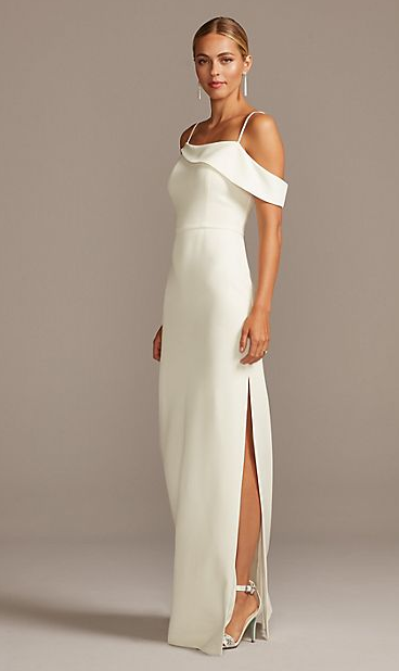 Bridesmaids dress in ivory