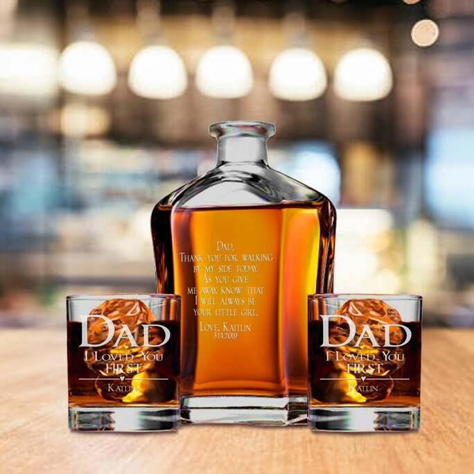 Whiskey decanter set