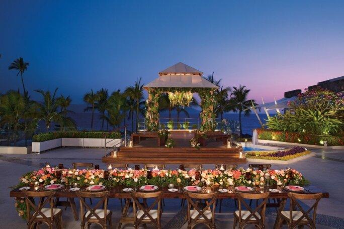 Gazebo wedding & reception at Now Amber Puerto Vallarta