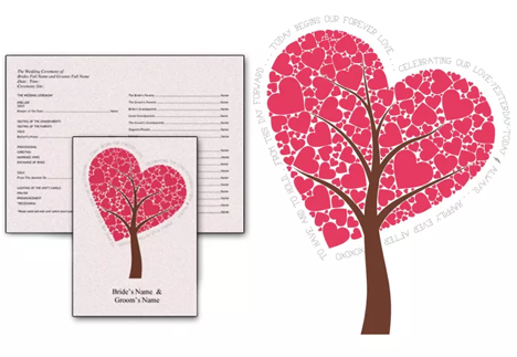 Heart tree program from TheKnot.com