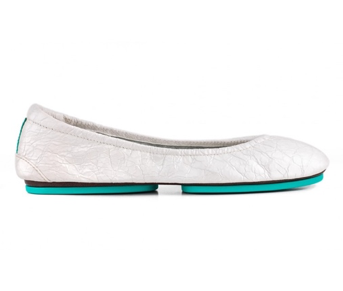 Tieks Diamond White Croc Flats