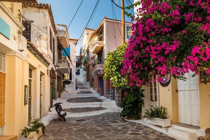 Streets of Poros, Greece