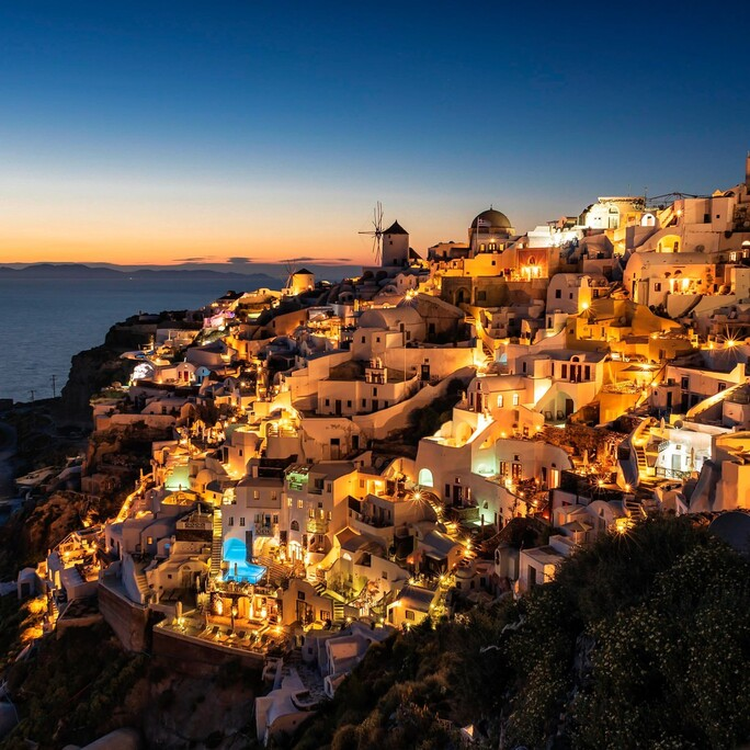 Sunset from Oia castle