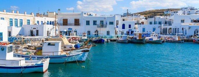 Port of Parikia in Paros, Greece