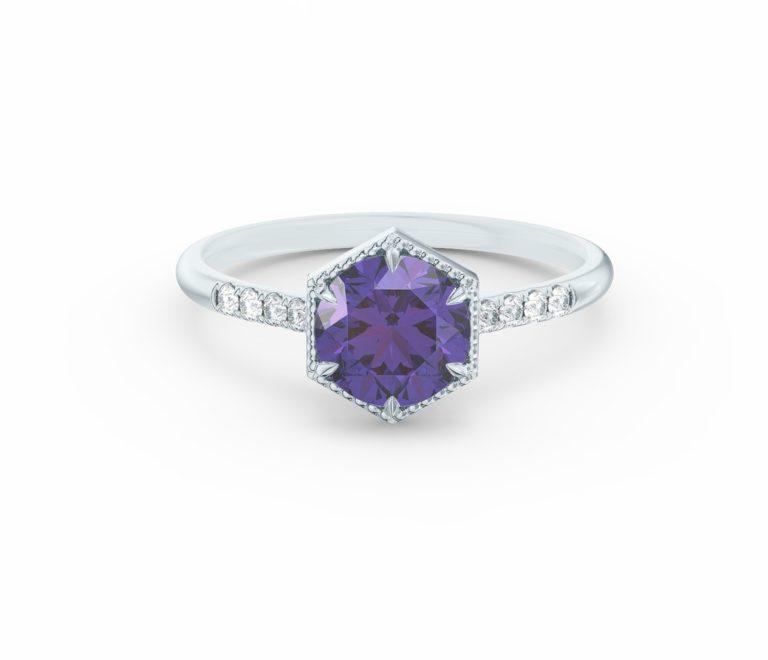 purple sapphire helena engagement ring