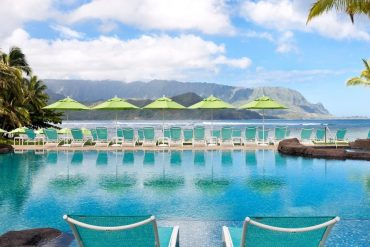 Relaxing Chairs at Princeville Pool