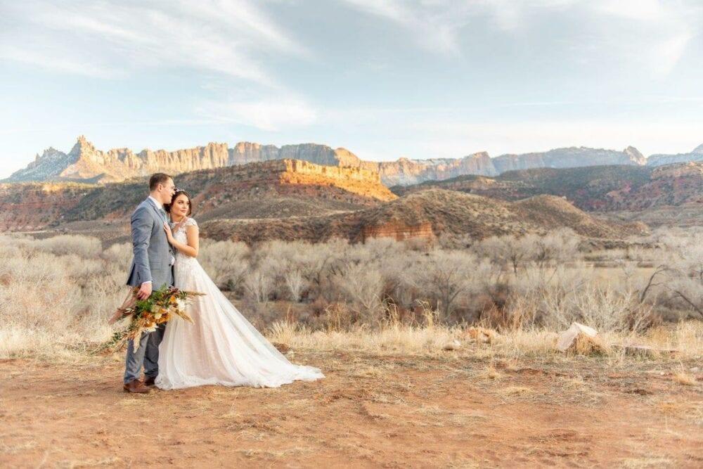 zion red rock wedding