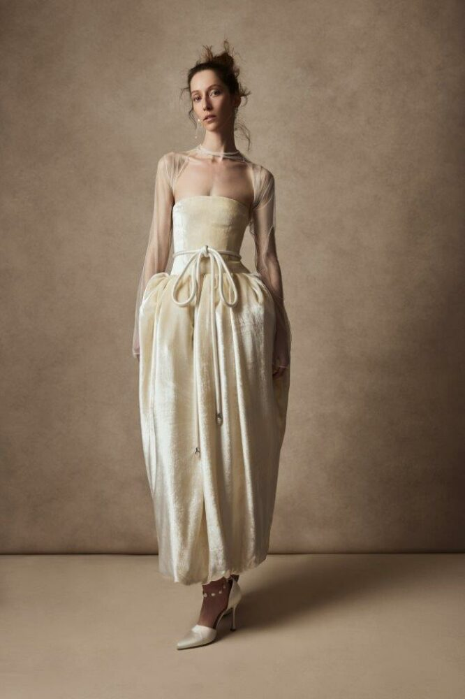Frida strapless gown by Danielle Frankel