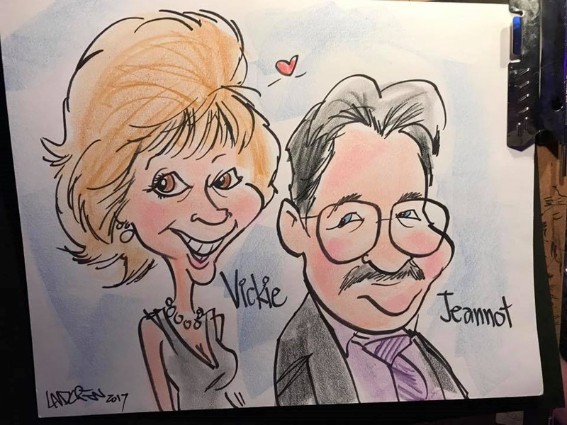 nontraditional wedding entertainment caricature artists