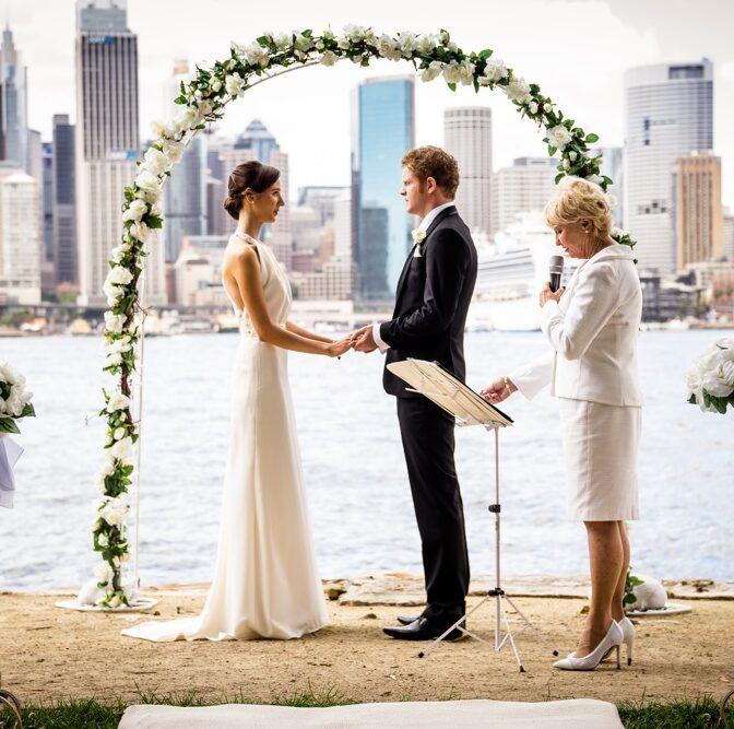 Sydney harbour wedding ceremony