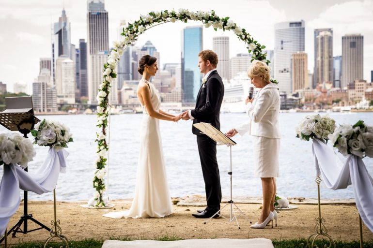 Sydney harbour wedding ceremony