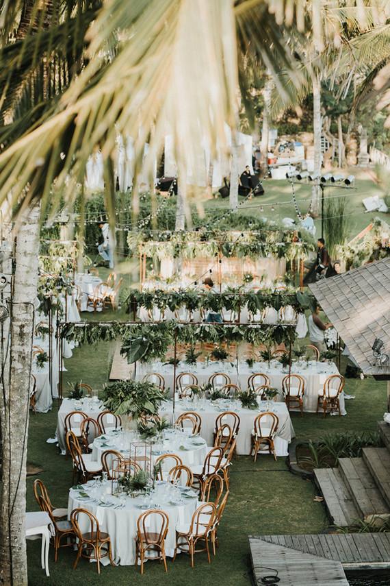 all green wedding reception organic