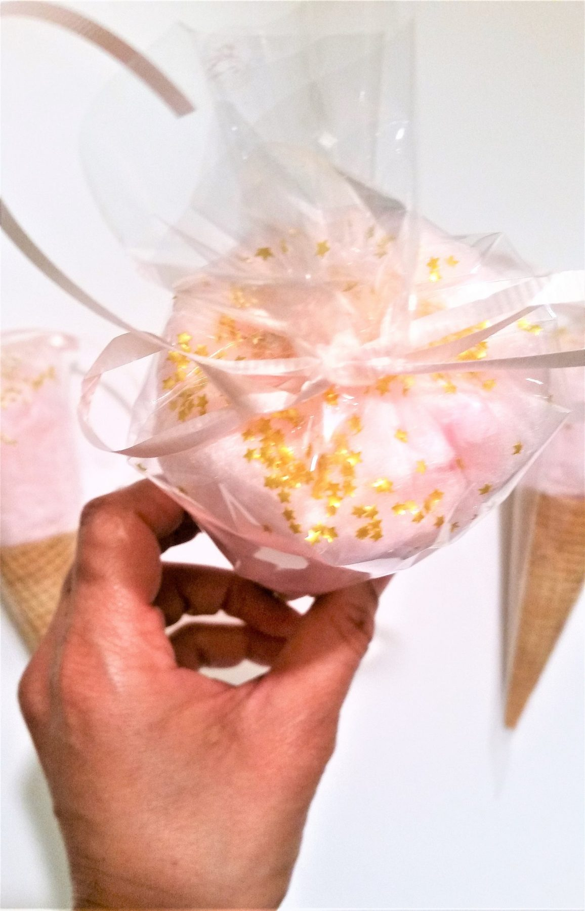 Cotton Candy Ice Cream Cones from Puff Delights