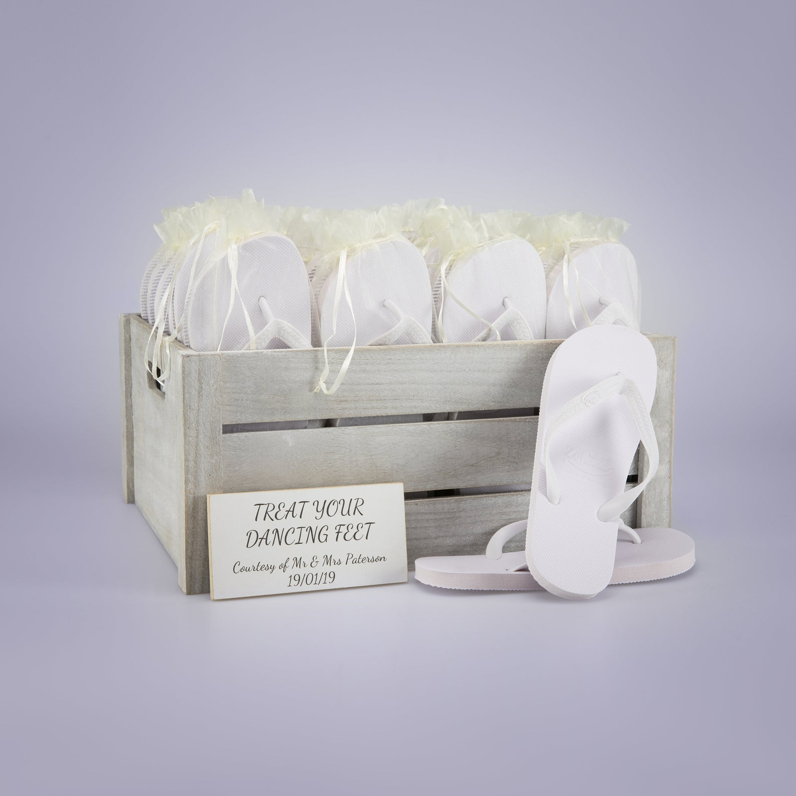 Vintage Wedding Flip Flop Crate from Hayleigh Frames Gifts